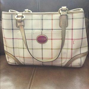 Coach handbag Burberry colors